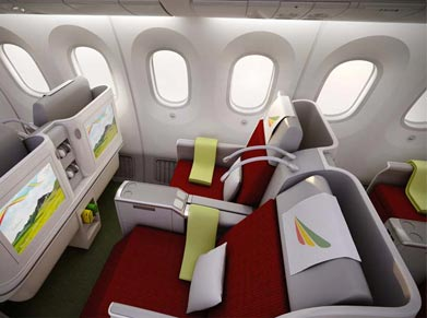 Economy, Business Class flights with Ethiopian Airlines