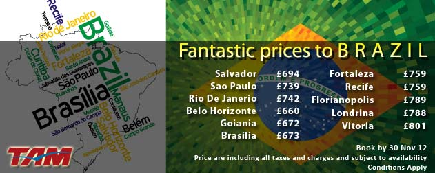 Book Cheap Flights to Brazil with Carlton Leisure