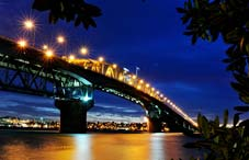 Auckland Night Bridge