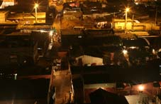 Night at poor district of Luanda