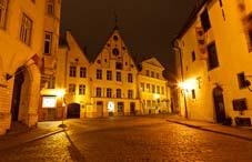 Night Street in the Tallinn