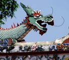 Decorative dragon on Chinese temple