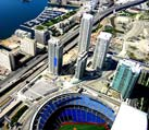ariel view of rogers center stadium