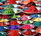 Colorful tika powders