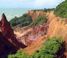 red rocks in recife