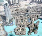 the top view on dubai