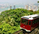 tourist tram at the peak