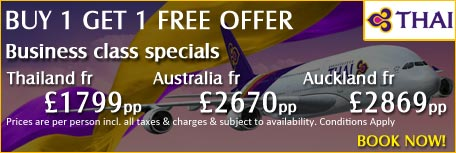 Thai Airways Business Class Specials from Carlton Leisure